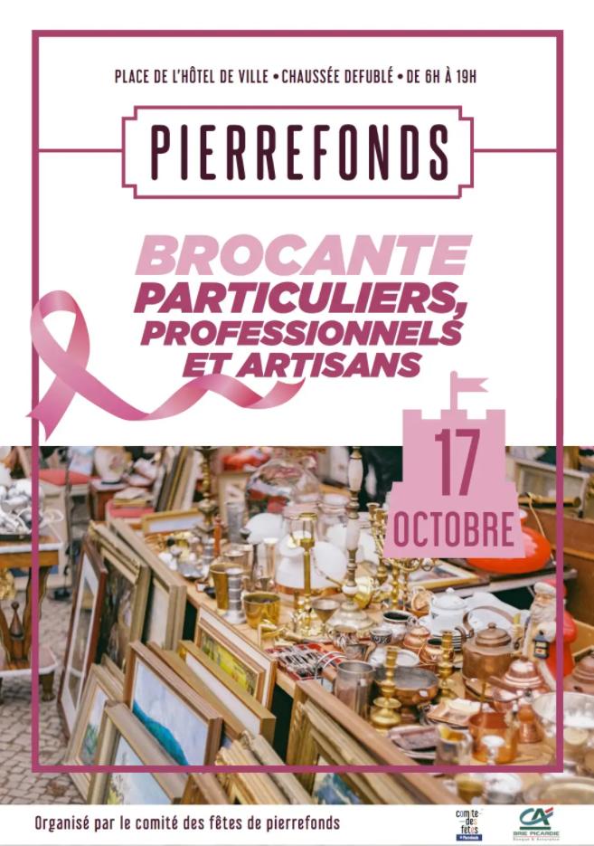 Brocante des particuliers, professionnels et artisans du 17 octobre